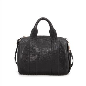 Alexander Wang Rocco Bag Black with Rose Gold.